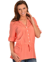 Miss Me Women's Sweet Life Woven Top, , hi-res