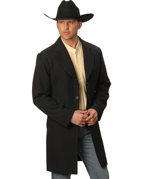 WahMaker by Scully Wool Blend Frock Coat - Big & Tall, Black, hi-res