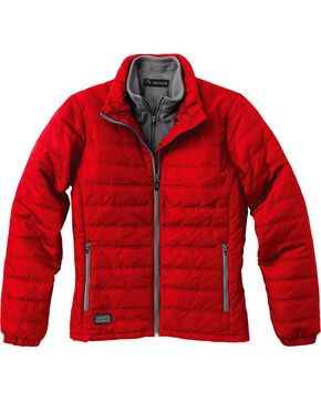Dri Duck Women's Belay Therma Puff Jacket - Plus, Red, hi-res