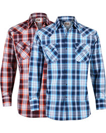 Ely Walker Men's Assorted Plaid Lurex Long Sleeve Shirt , , hi-res