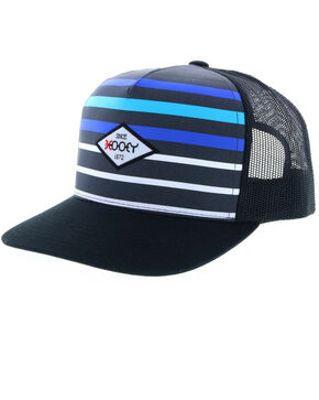 Hooey Men's Method Striped Trucker Cap, Grey, hi-res