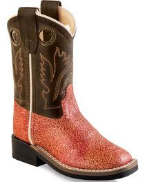 Old West Toddler Girls' Multi-Color Western Boots - Square Toe , , hi-res