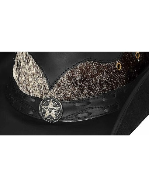 Bullhide Comanche Leather Hat, Black, hi-res