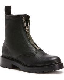 Frye Women's Black Julie Front Zip Boots - Round Toe, , hi-res