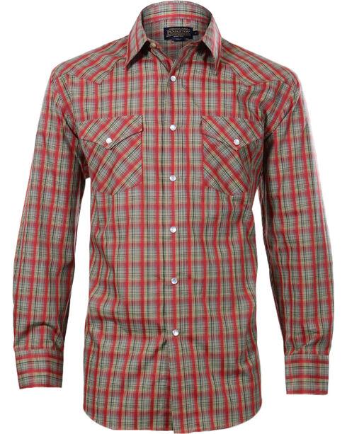 Pendleton Men's Plaid Check Long sleeve Shirt, Red, hi-res
