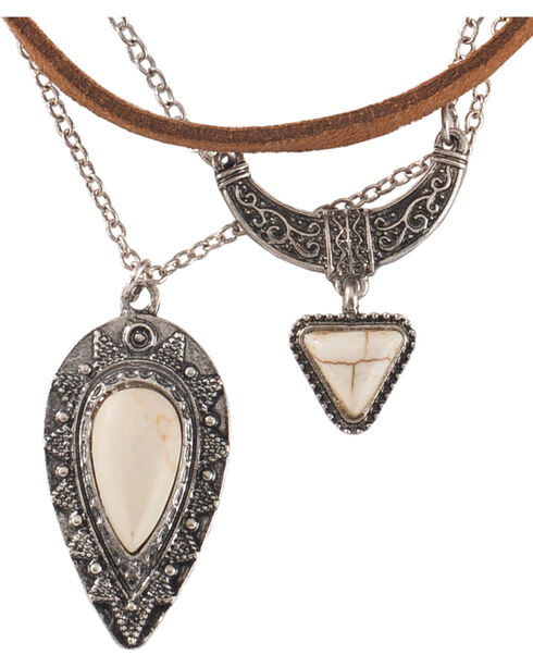 Shyanne® Women's Concho Jewelry Set, Silver, hi-res