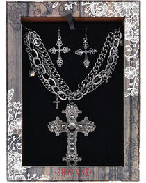 Shyanne® Women's Ornate Cross Jewelry Set, , hi-res