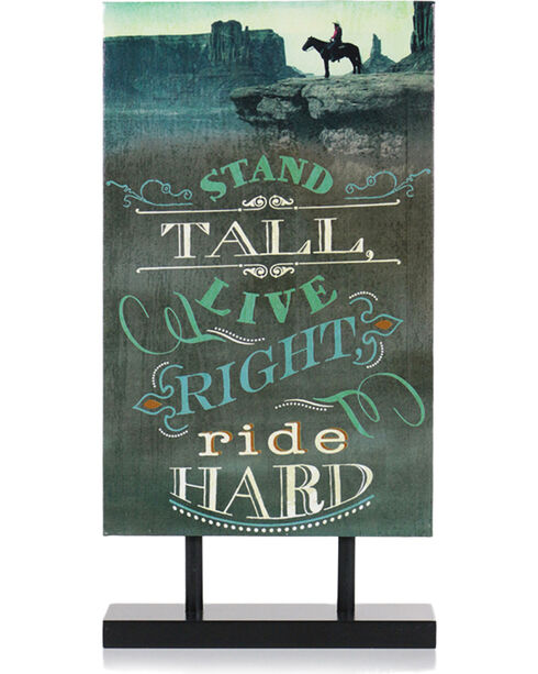 BB Ranch® Ride Hard Standing Canvas Decor, No Color, hi-res