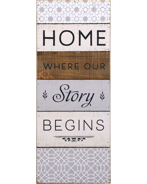 Demdaco Home Where Our Story Begins Wall Art, White, hi-res