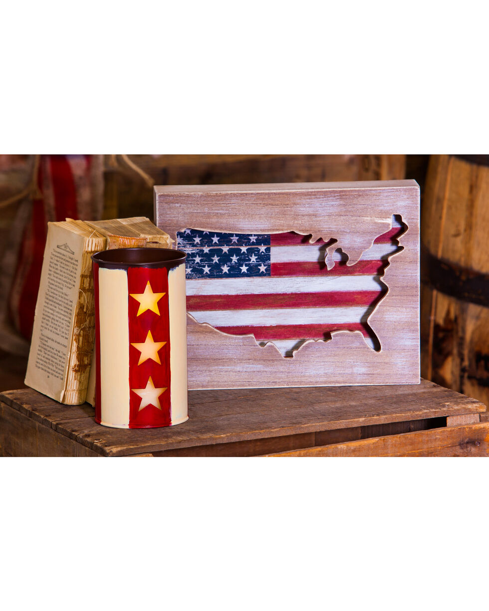 Evergreen American Flag Wooden Wall Decor , Red/white/blue, hi-res