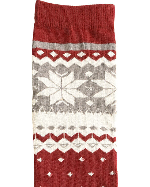 Shyanne® Women's Pattern Knee-High Socks, Burgundy, hi-res