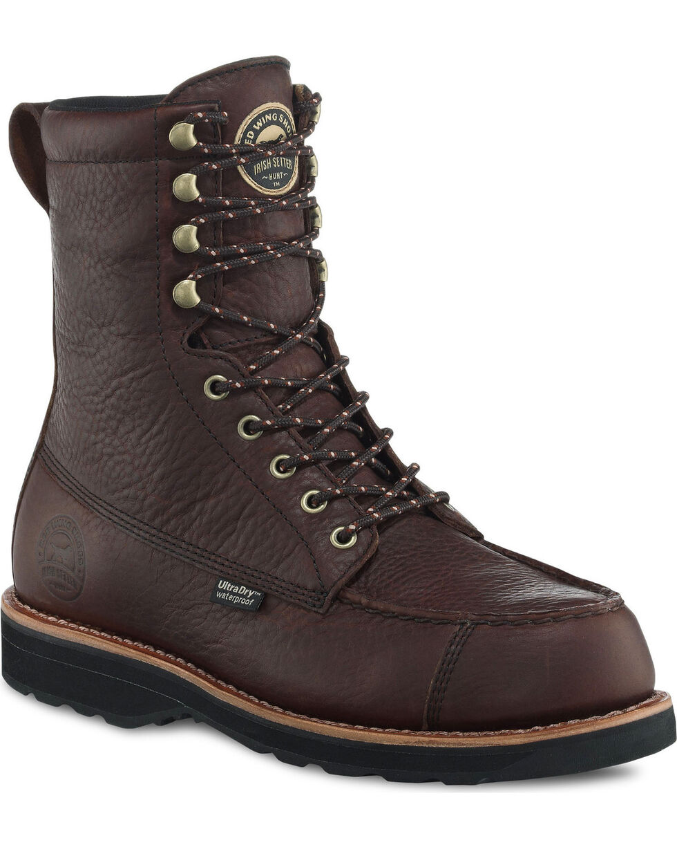 """Irish Setter by Red Wing Shoes Men's Dark Brown Wingshooter UltraDry 9"""" Work Boots , Brown, hi-res"""
