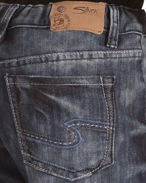 Silver Toddler Boys' Zane Dark Wash Distressed Detail Jeans - Bootcut, Indigo, hi-res