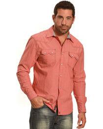 Moonshine Spirit® Men's Embroidered Stripe Long Sleeve Shirt, Red, hi-res