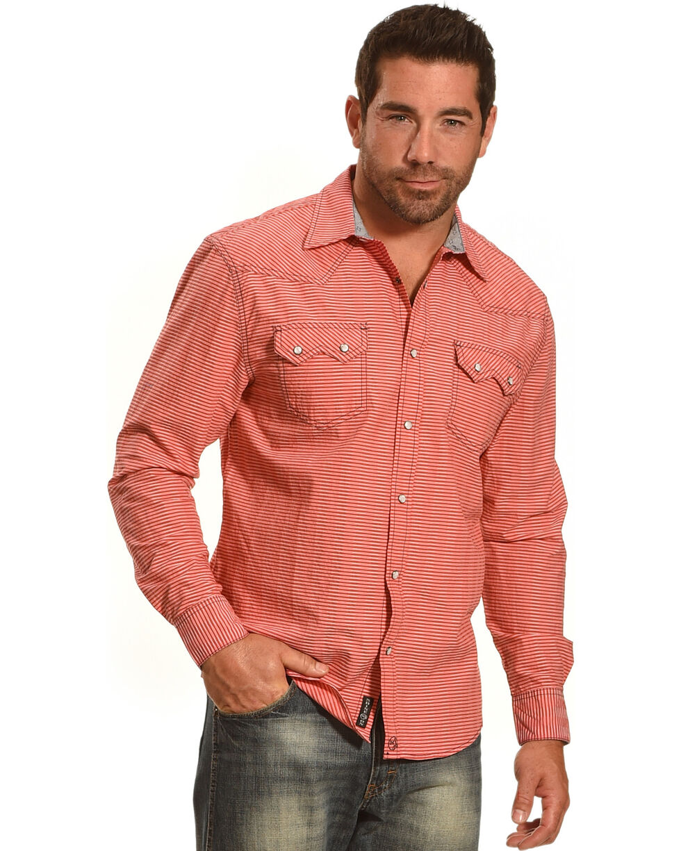 Moonshine Spirit® Men's Embroidered Stripe Long Sleeve Shirt, , hi-res