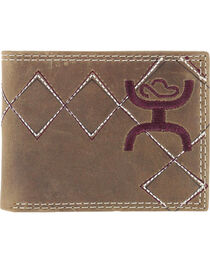 HOOey Men's Embroidered Bi-Fold Wallet, , hi-res
