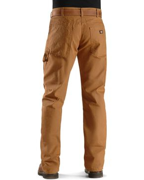 Dickies Relaxed Straight Fit Flannel Lined Carpenter Work Pants, Brown Duck, hi-res