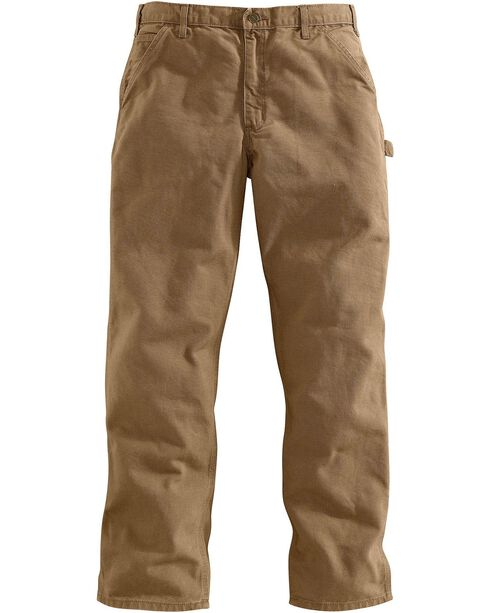 Carhartt Desert Washed Duck Dungaree Work Pants, Desert, hi-res
