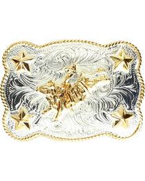 M & F Western Kids' Bull Rider & Stars Belt Buckle, , hi-res