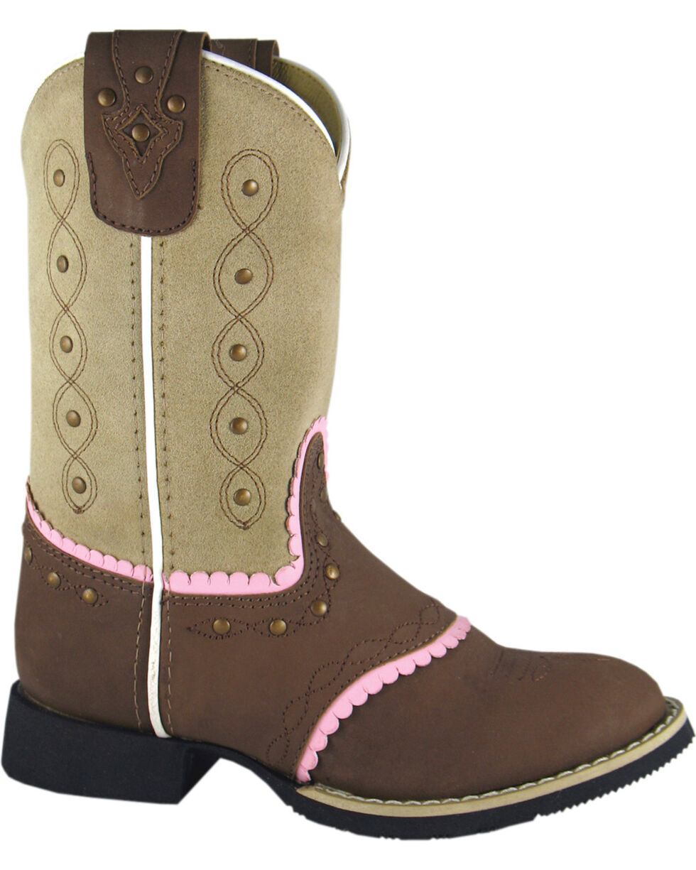 Smoky Mountain Youth Girls' Ruby Belle Western Boots - Round Toe, Brown, hi-res