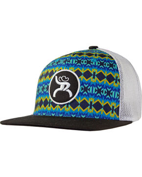 Hooey Men's Koda Six Panel Trucker Cap , Blue, hi-res