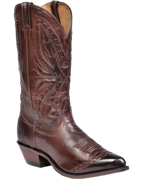 "Boulet Men's 13"" Hand Stitched Design Cowboy Toe  Boots, Ranch Tan, hi-res"