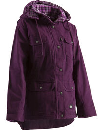 Berne Women's Quilted Flannel-Lined Washed Barn Coat - 3XL and 4XL, , hi-res