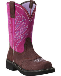 "Ariat Women's Probaby Flame 10"" Western Boots, , hi-res"