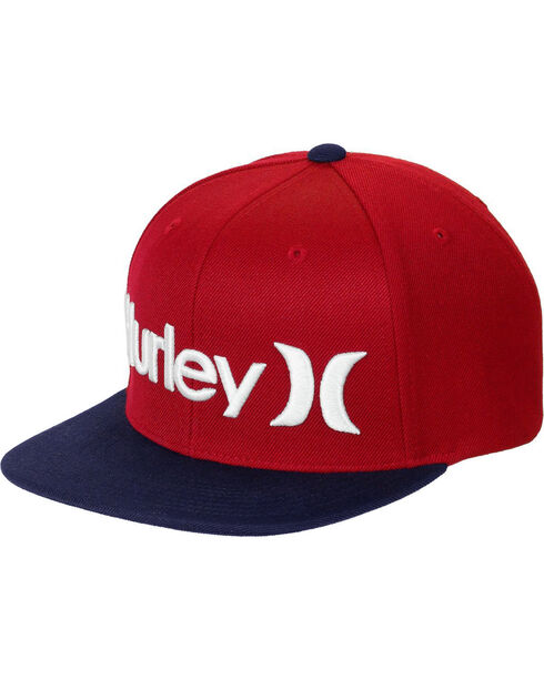 Hurley Men's Red One & Only Baseball Cap , Blue/red, hi-res