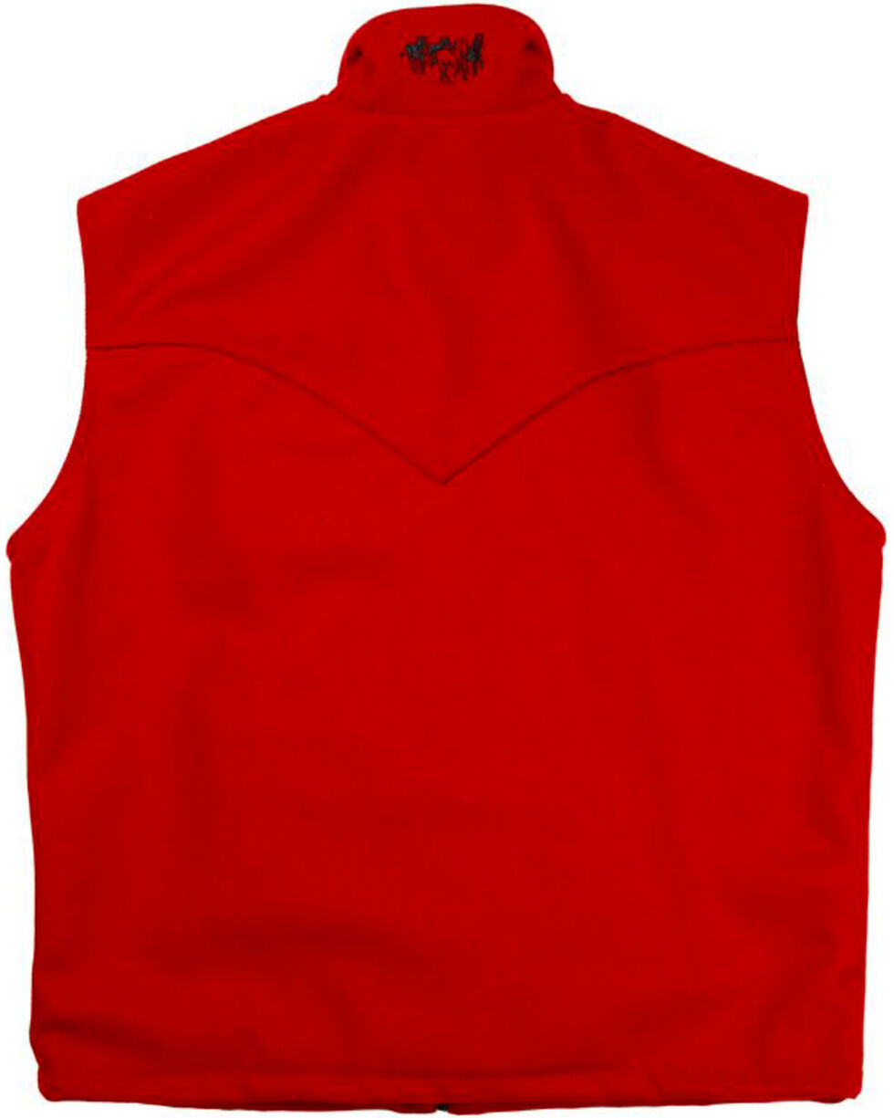 Schaefer Men's Red Arena Melton Wool Vest - 3XL, Red, hi-res