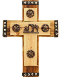 Western Moments Cowboy Prayer Wall Cross, , hi-res