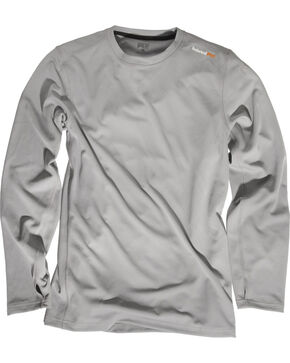 Timberland Men's Wicking Good Long-Sleeve T-Shirt , Grey, hi-res