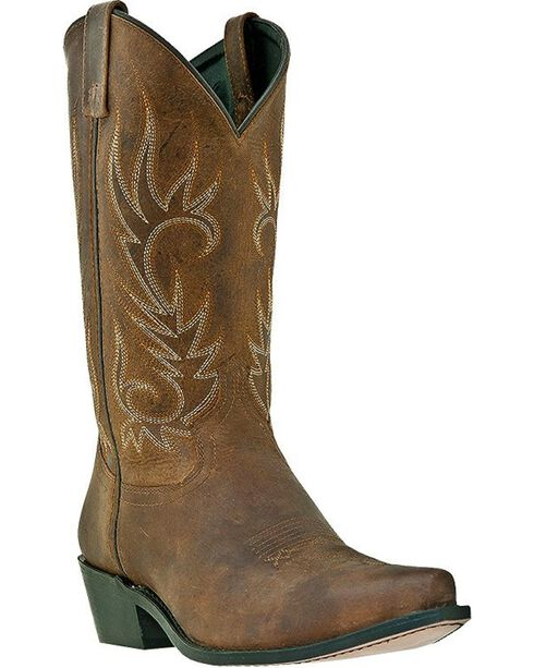 Laredo Men's Willow Creek Snip Toe Western Boots, Tan, hi-res
