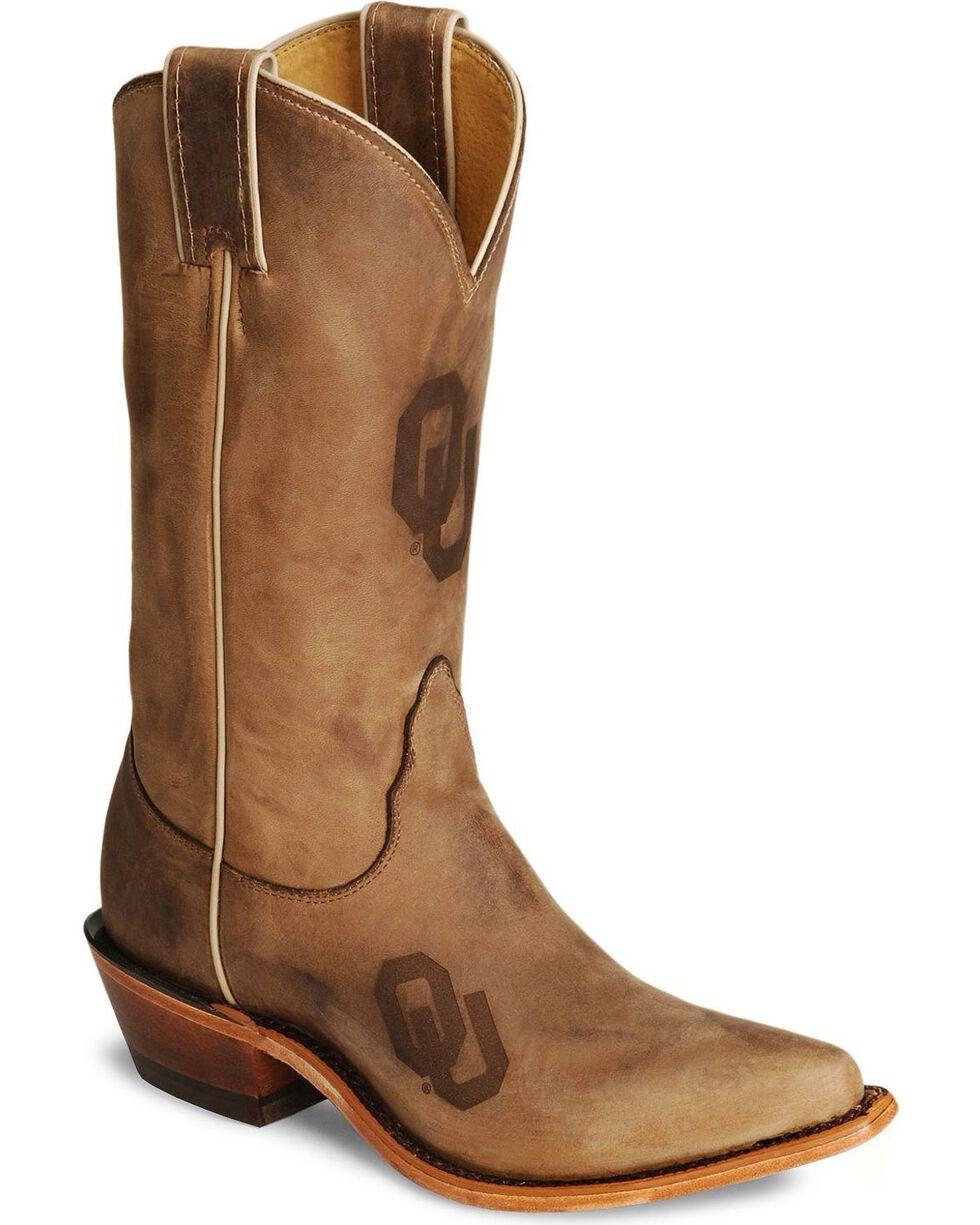 Nocona Women's University of Oklahoma College Boots, Tan, hi-res