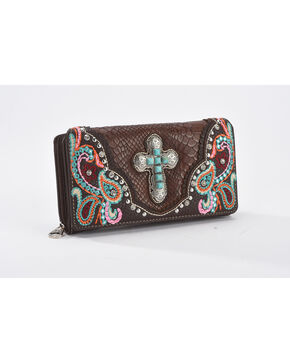 Shyanne Women's Multicolor Embellished Cross Wallet, Multi, hi-res