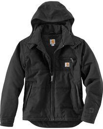 Carhartt Men's Black Quick Duck Livingston Jacket - Tall, , hi-res