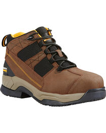Ariat Men's Contender Steel Toe Work Shoes, Brown, hi-res