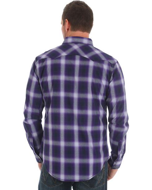 Wrangler Men's Purple Retro Western Plaid Shirt , Purple, hi-res