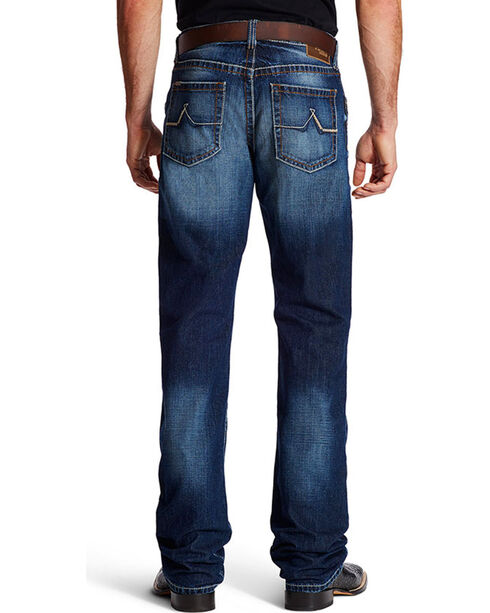 Ariat Men's Dark Wash Boot Cut Jeans, Indigo, hi-res