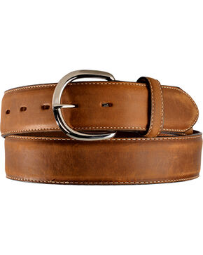 Cody James Men's Leather Overlay Belt, Brown, hi-res