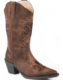 Roper Women's Glitter Inlay Fashion Western Boots, , hi-res