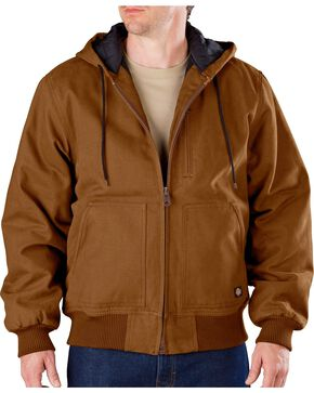 Dickies Sanded Duck Hooded Jacket - Big & Tall, Brown Duck, hi-res