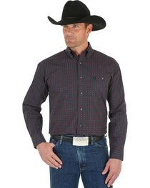 Wrangler George Strait Men's Black & Red Dot Shirt , , hi-res