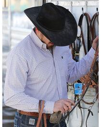 Cinch Men's White Long Sleeve Print Western Shirt , , hi-res