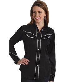 Roper Women's Americana Longhorn Western Shirt, , hi-res