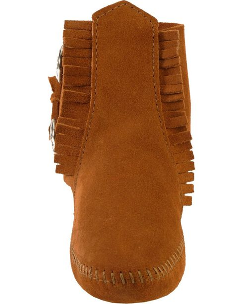 Minnetonka Soft Sole Ankle Moccasins, Brown, hi-res