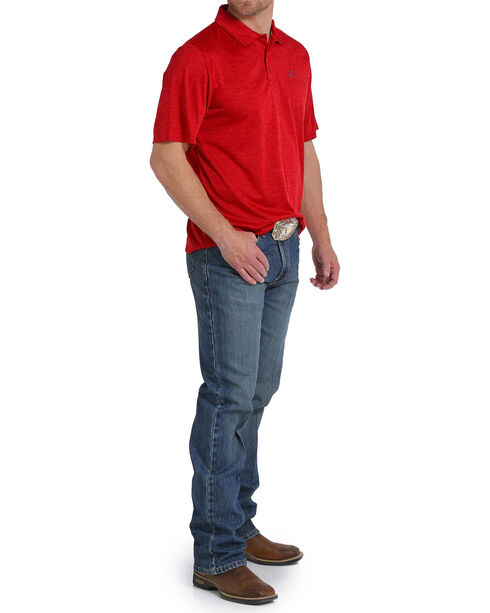 Cinch Men's Red Arenaflex Athletic Polo , Red, hi-res