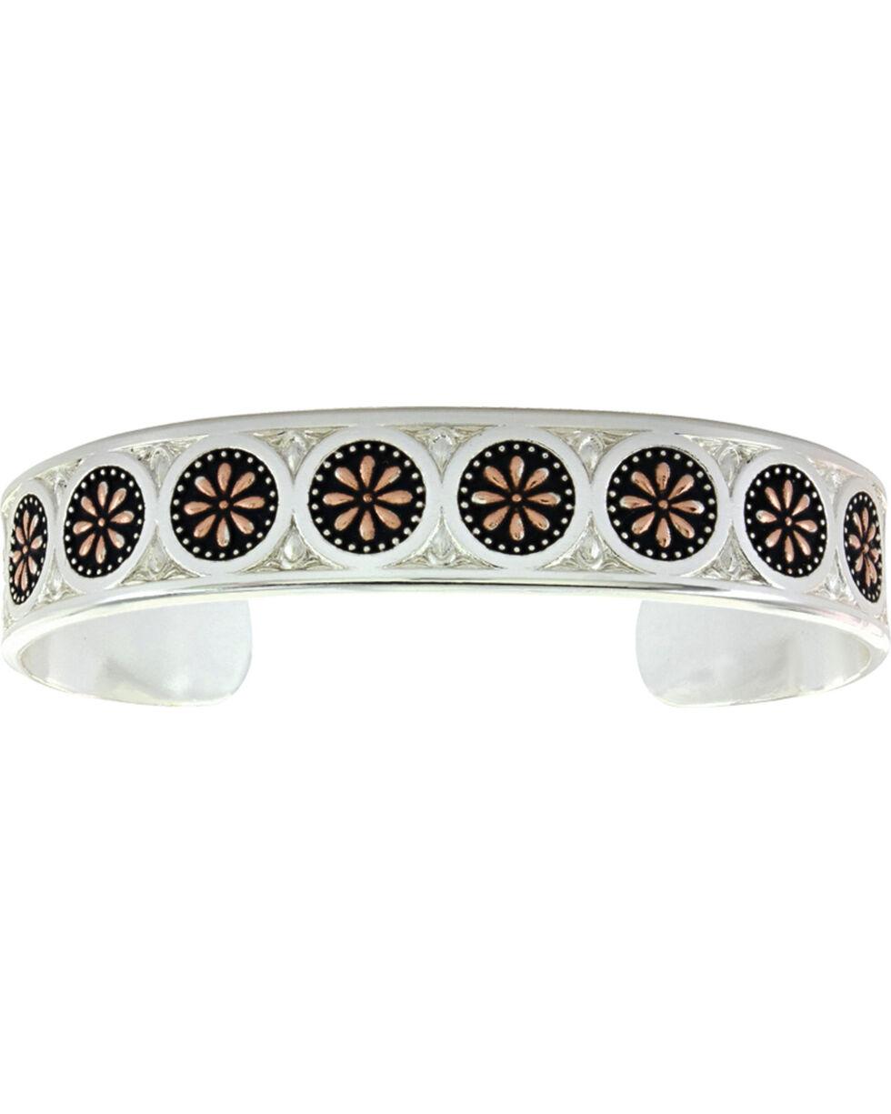 Montana Silversmiths Women's Sunburst Silver Bracelet Cuff, Silver, hi-res