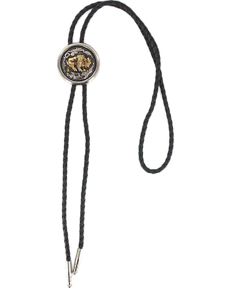 Cody James® Men's Bison Bolo Tie, Silver, hi-res