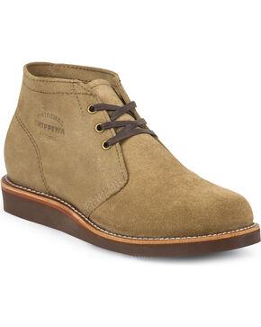 Chippewa Men's Modern Suburban Suede Shoes, Khaki, hi-res